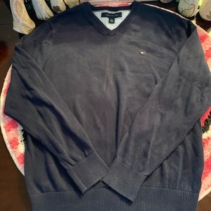 Men's Tommy Hilfiger Navy Blue Sweater Size Small